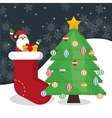 Santa cartoon of Chistmas design vector image vector image