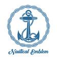 sea anchor retro emblem vector image vector image