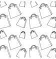 seamless pattern shopping paper bag handle image vector image