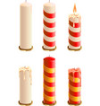 Set Christmas candle vector image vector image