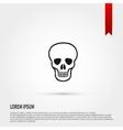 Skull Icon Danger concept Flat design style Tem vector image