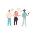 social network and teamwork people communication vector image vector image