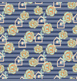 striped succulent floral seamless pattern vector image vector image