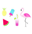 summer with flamingo vector image vector image