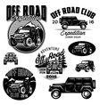templates for SUVs off-road sport club vector image vector image