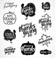 thanksgiving calligraphic vector image