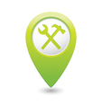 tools icon green map pointer vector image vector image