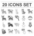 toy animals monochrome icons in set collection for vector image vector image