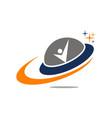 ufo logo design template vector image