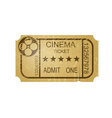 Vintage cinema ticket with grunge vector image vector image