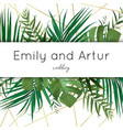 wedding tropical invite save date card design vector image vector image