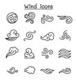 wind icon set in thin line style vector image vector image