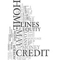 your home equity credit lines text word cloud vector image vector image