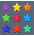 cartoon color glossy stars shiny buttons vector image