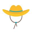 cowboy hat icon vector image
