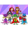 kids group at mask ball cartoon vector image