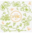 spring branches set vector image