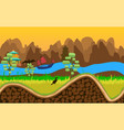 nature landscape with river trees road and vector image