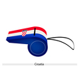 A Whistle of The Republic of Croatia vector image