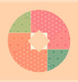 abstract patchwork vector image vector image