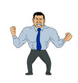 angry businessman cartoon vector image vector image