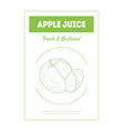 apple juice banner template fresh and natural vector image vector image