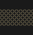 arabic geometric seamless patternblack and gold vector image