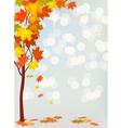 Autumn holiday postcard vector image