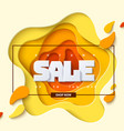 autumn sale yellow color layout background vector image vector image