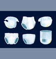 baby diaper realistic 3d nappy breathable vector image
