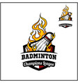 badminton ball flame badge