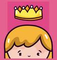 beautiful queen cartoon vector image