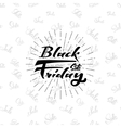 Black Friday sale on seamless background - vector image vector image