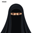 black niqab style muslim woman vector image