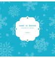 Blue lace snowflakes textile frame seamless vector image vector image