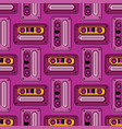 cassette tapes retro seamless pattern vector image