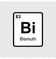 chemical element bismuth vector image vector image