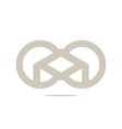 circle square design logo abstract icon vector image vector image