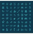 coffee icons set thin line design vector image vector image