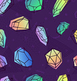 crystal seamless pattern in 80s holographic style vector image