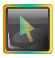 cursor grey square icon with yellow and green vector image vector image