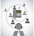 customer service vector image