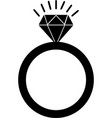 diamond black icon diamond icon eps vector image vector image