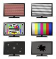 error tv set vector image vector image