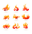 Fire shapes vector image