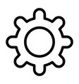 gear icon with outline style vector image vector image