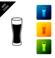 glass beer icon isolated on white background vector image