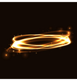 Gold circle light tracing effect Glowing vector image