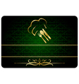 Green decorative restaurant man card vector image vector image