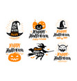halloween banner holiday greeting card label or vector image vector image